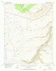 Emmett Wash, Arizona 1954 (1973) USGS Old Topo Map Reprint 15x15 AZ Quad 314577
