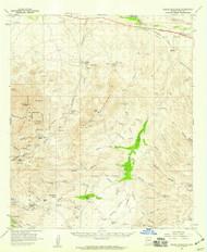 Empire Mountains, Arizona 1958 (1959) USGS Old Topo Map Reprint 15x15 AZ Quad 314582