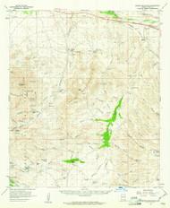 Empire Mountains, Arizona 1958 (1961) USGS Old Topo Map Reprint 15x15 AZ Quad 314581