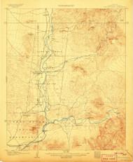Fort McDowell, Arizona 1906 (1906) USGS Old Topo Map Reprint 15x15 AZ Quad 314603