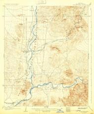 Fort McDowell, Arizona 1906 (1931) USGS Old Topo Map Reprint 15x15 AZ Quad 314604