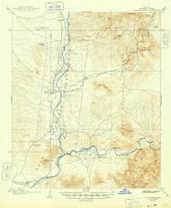 Fort McDowell, Arizona 1906 (1948) USGS Old Topo Map Reprint 15x15 AZ Quad 314606