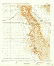 Fortuna, Arizona 1929 (1943) USGS Old Topo Map Reprint 15x15 AZ Quad 314598