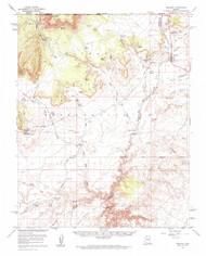 Fredonia, Arizona 1954 (1963) USGS Old Topo Map Reprint 15x15 AZ Quad 314600