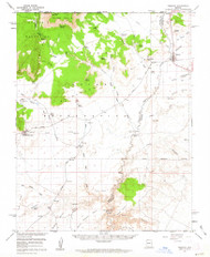 Fredonia, Arizona 1954 (1963) USGS Old Topo Map Reprint 15x15 AZ Quad 314601