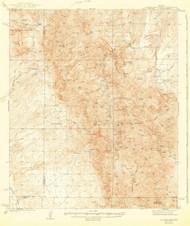Galiuro Mountains, Arizona 1943 (1943) USGS Old Topo Map Reprint 15x15 AZ Quad 464704