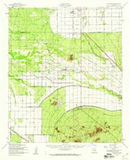 Gila Butte, Arizona 1952 (1960) USGS Old Topo Map Reprint 15x15 AZ Quad 314620