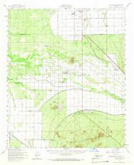 Gila Butte, Arizona 1952 (1966) USGS Old Topo Map Reprint 15x15 AZ Quad 314619