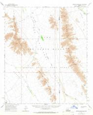 Granite Mountains, Arizona 1965 (1966) USGS Old Topo Map Reprint 15x15 AZ Quad 314635