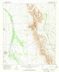 Growler Peak, Arizona 1964 (1965) USGS Old Topo Map Reprint 15x15 AZ Quad 314638
