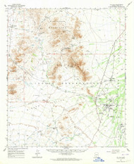 Gu Achi, Arizona 1963 (1964) USGS Old Topo Map Reprint 15x15 AZ Quad 314641