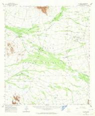 Gu Oidak, Arizona 1963 (1964) USGS Old Topo Map Reprint 15x15 AZ Quad 314643