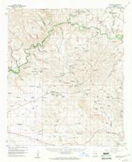 Guthrie, Arizona 1960 (1961) USGS Old Topo Map Reprint 15x15 AZ Quad 314648