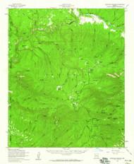 Hannagan Meadow, Arizona 1958 (1960) USGS Old Topo Map Reprint 15x15 AZ Quad 314651