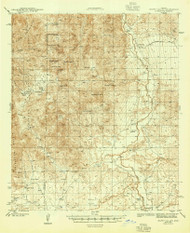 Happy Valley, Arizona 1945 (1945) USGS Old Topo Map Reprint 15x15 AZ Quad 314653