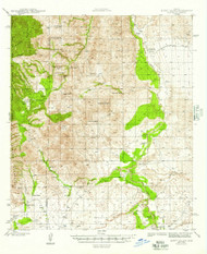 Happy Valley, Arizona 1945 (1945) USGS Old Topo Map Reprint 15x15 AZ Quad 314655