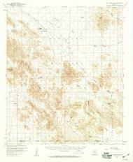 Hat Mountain, Arizona 1958 (1959) USGS Old Topo Map Reprint 15x15 AZ Quad 314659