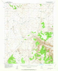 Heaton Knolls, Arizona 1954 (1963) USGS Old Topo Map Reprint 15x15 AZ Quad 314666