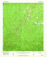 Heber, Arizona 1961 (1963) USGS Old Topo Map Reprint 15x15 AZ Quad 314670