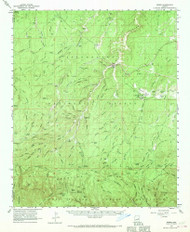 Heber, Arizona 1961 (1970) USGS Old Topo Map Reprint 15x15 AZ Quad 314669
