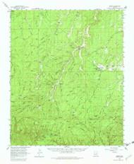 Heber, Arizona 1961 (1982) USGS Old Topo Map Reprint 15x15 AZ Quad 314671