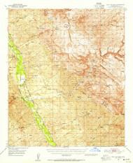 Holy Joe Peak, Arizona 1949 (1955) USGS Old Topo Map Reprint 15x15 AZ Quad 314677