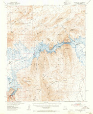Hoover Dam, Arizona 1953 (1955) USGS Old Topo Map Reprint 15x15 AZ Quad 320982