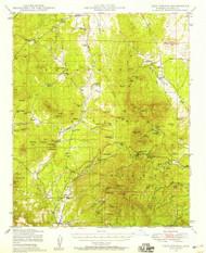 Iron Springs, Arizona 1947 (1958) USGS Old Topo Map Reprint 15x15 AZ Quad 314690