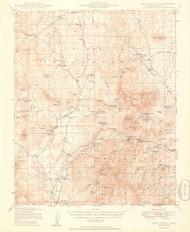 Iron Springs, Arizona 1949 (1949) USGS Old Topo Map Reprint 15x15 AZ Quad 464740