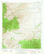 Jackson Mountain, Arizona 1944 (1944) USGS Old Topo Map Reprint 15x15 AZ Quad 314698