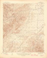 Jackson Mountain, Arizona 1944 (1946) USGS Old Topo Map Reprint 15x15 AZ Quad 464742