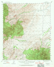 Jackson Mountain, Arizona 1944 (1970) USGS Old Topo Map Reprint 15x15 AZ Quad 314697