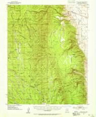 Jacob Lake, Arizona 1953 (1955) USGS Old Topo Map Reprint 15x15 AZ Quad 314704