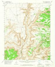 Jumpup Canyon, Arizona 1957 (1966) USGS Old Topo Map Reprint 15x15 AZ Quad 314708