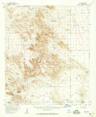 Kaka, Arizona 1958 (1959) USGS Old Topo Map Reprint 15x15 AZ Quad 314711