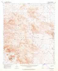 Kofa Butte, Arizona 1962 (1964) USGS Old Topo Map Reprint 15x15 AZ Quad 314729