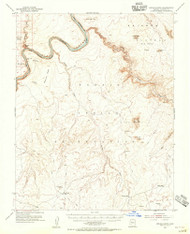 LeChee Rock, Arizona 1954 (1956) USGS Old Topo Map Reprint 15x15 AZ Quad 314743
