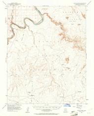 LeChee Rock, Arizona 1954 (1961) USGS Old Topo Map Reprint 15x15 AZ Quad 314742
