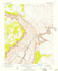 Lees Ferry, Arizona 1954 (1956) USGS Old Topo Map Reprint 15x15 AZ Quad 314745