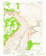 Lees Ferry, Arizona 1954 (1961) USGS Old Topo Map Reprint 15x15 AZ Quad 314746
