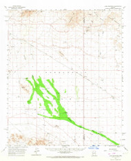 Lone Mountain, Arizona 1961 (1967) USGS Old Topo Map Reprint 15x15 AZ Quad 314766