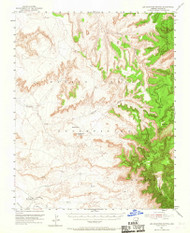 Los Gigantes Buttes, Arizona 1953 (1967) USGS Old Topo Map Reprint 15x15 AZ Quad 314767
