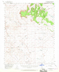 Lost Spring Mountain, Arizona 1954 (1970) USGS Old Topo Map Reprint 15x15 AZ Quad 314769