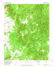 Lukachukai, Arizona 1955 (1962) USGS Old Topo Map Reprint 15x15 AZ Quad 314772