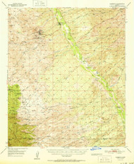Mammoth, Arizona 1951 (1951) USGS Old Topo Map Reprint 15x15 AZ Quad 314780