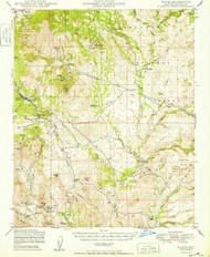 Mayer, Arizona 1949 (1949) USGS Old Topo Map Reprint 15x15 AZ Quad 314789