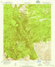 McFadden Peak, Arizona 1949 (1955) USGS Old Topo Map Reprint 15x15 AZ Quad 314792