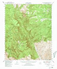 McFadden Peak, Arizona 1949 (1980) USGS Old Topo Map Reprint 15x15 AZ Quad 314790