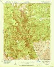 McFadden Peak, Arizona 1950 (1950) USGS Old Topo Map Reprint 15x15 AZ Quad 314793