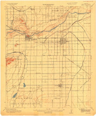 Mesa, Arizona 1915 (1915) USGS Old Topo Map Reprint 15x15 AZ Quad 703561